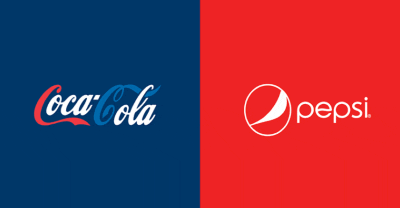 Coca cola and pepsi mixed