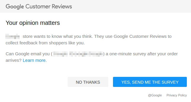 Google customers review