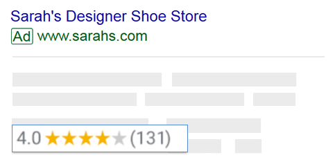 Google search showing a sites-businesses customer rating.