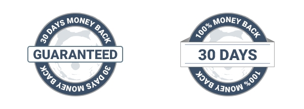 Examples of money back badges