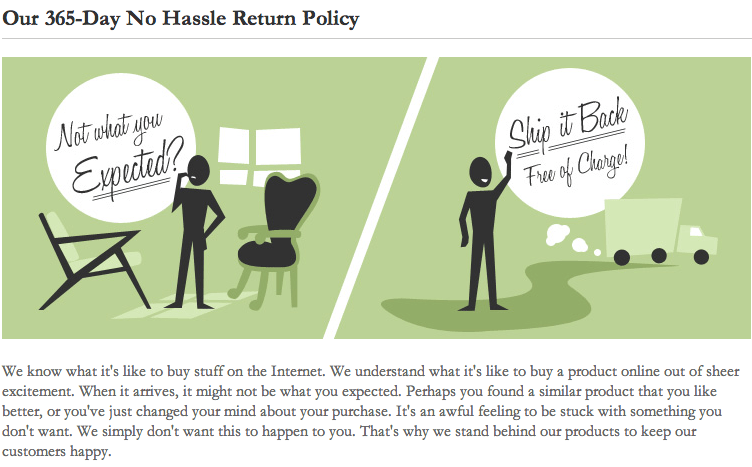 365 day return policy