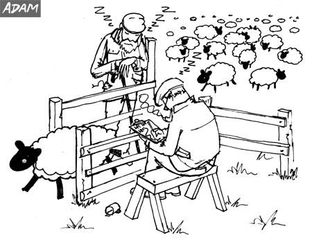 Annual stock take cartoon