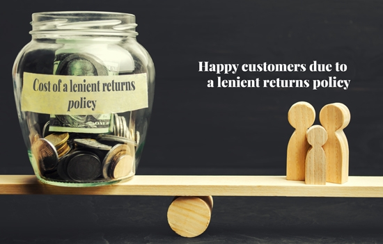 Happy customers due to lenient returns policy