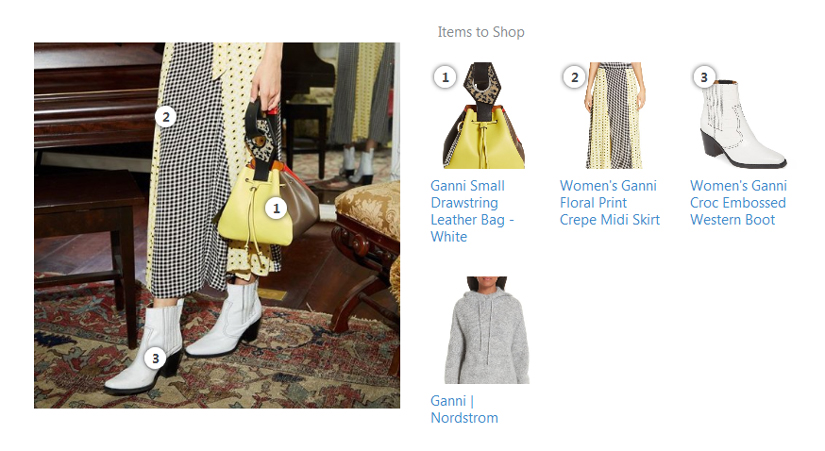 How Nordstrom have made their products shaopperble with out implementing Instagram shopping